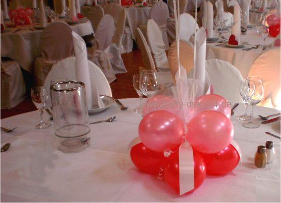 Tischdeko luftballons raum und m beldesign inspiration for Dekoration mit luftballons
