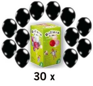 ballon partyset m helium u ballons schwarz im shop. Black Bedroom Furniture Sets. Home Design Ideas