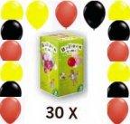 ballongas fussball luftballons set im shop. Black Bedroom Furniture Sets. Home Design Ideas