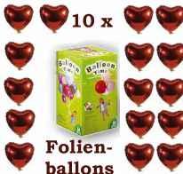 hochzeit 10 folien herzballons helium im shop. Black Bedroom Furniture Sets. Home Design Ideas