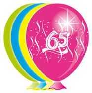 geburtstag 8 x luftballons mit zahl 65 im shop. Black Bedroom Furniture Sets. Home Design Ideas