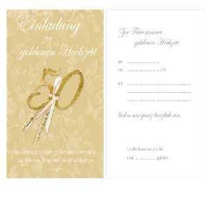 gold hochzeit deko: dekoration zur goldenen hochzeit, Einladungsentwurf