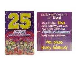 Geburtstagskarte 25 jahre im shop - Geburtstagskarte 25 geburtstag ...
