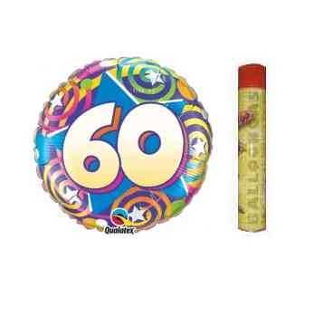 60 geburtstag folienballon set im shop. Black Bedroom Furniture Sets. Home Design Ideas
