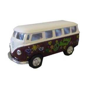 hippie bus rot 1 64 bulli modellauto im shop. Black Bedroom Furniture Sets. Home Design Ideas