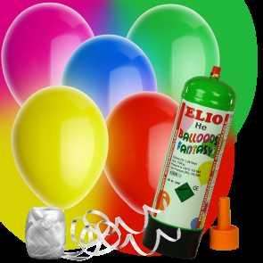 heliumset mit 10 bunten luftballons im shop. Black Bedroom Furniture Sets. Home Design Ideas