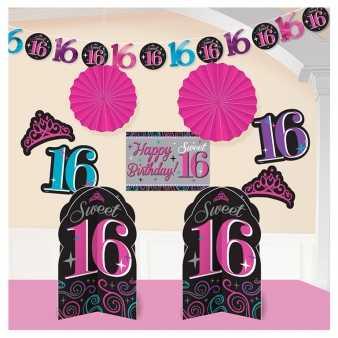 xxl party dekoration set zum 16 geburtstag im shop. Black Bedroom Furniture Sets. Home Design Ideas
