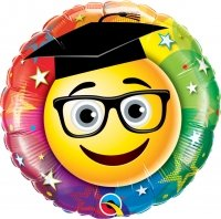 Folienballon Smiley Graduate