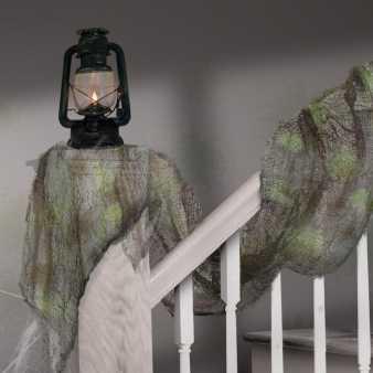 halloween deko zerissenes tuch grau im shop. Black Bedroom Furniture Sets. Home Design Ideas