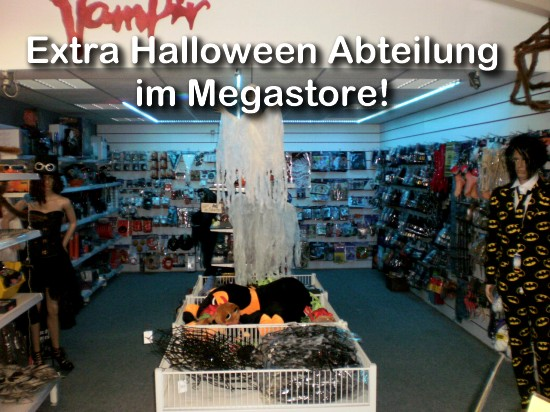 Halloween Shop im Party-, Deko-Megastore