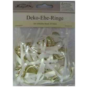Hochzeit Deko Ringe Am Schleifenband Im Shop