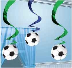 Fussball Dekoration Spiralen