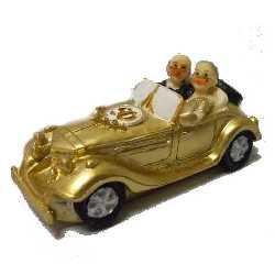 Goldene Hochzeit Brautpaar Im Auto
