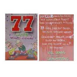 Text geburtstagskarte 77