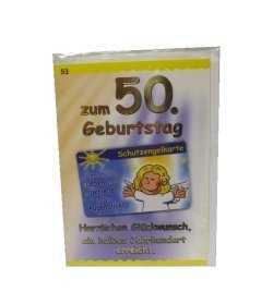 Karte 50 Geburtstag.50 Geburtstag Gluckwunschkarte Mit Karte