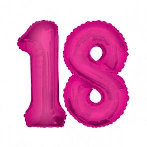 18 geburtstag xxl zahl 18 pink im shop. Black Bedroom Furniture Sets. Home Design Ideas