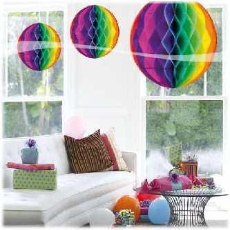 honigwaben ball multifarben 32cm im shop. Black Bedroom Furniture Sets. Home Design Ideas
