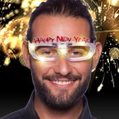 Happy New Year Brille mit LED