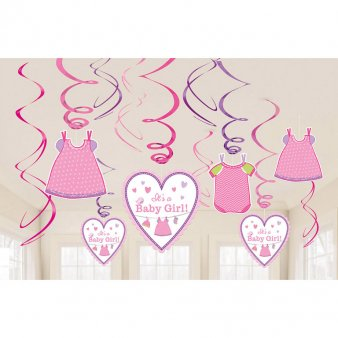 Baby Girl Swirl Girlanden Set