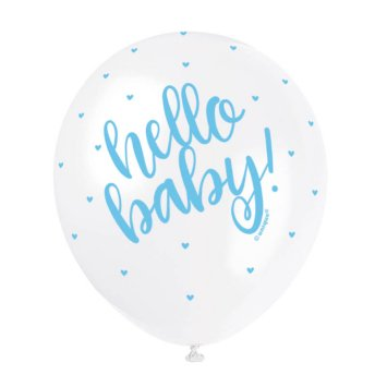 Ballons blau/weiss Oh Baby