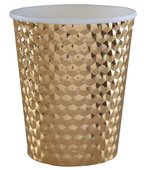 Becher Metallic Gold, gestanzt